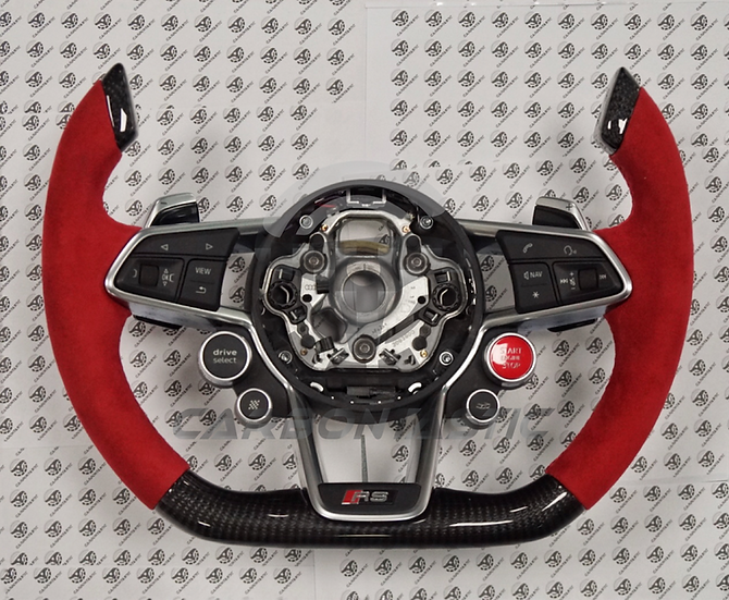 2015+ Audi R8/TTRS Fighter Jet Style Custom Carbon Fiber Steering Wheel
