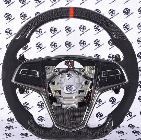 2014+ ATS-V/CTS-V Custom Carbon Fiber Steering Wheel Paddle Shifted