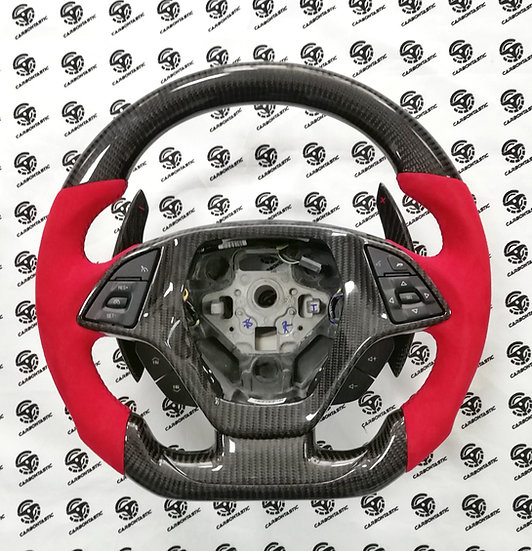 Corvette C7 Custom Carbon Fiber Steering Wheel (Rev Match Paddle)