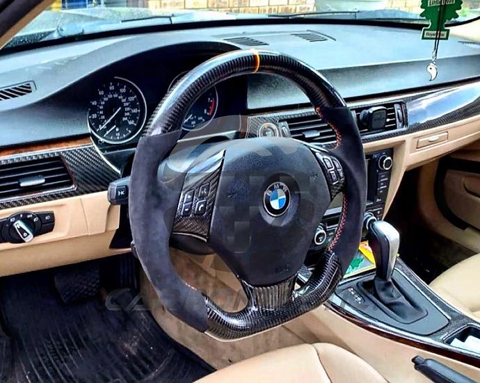 E82/88/90/92/93 Non-Sport Carbon Fiber Steering Wheel Style 1