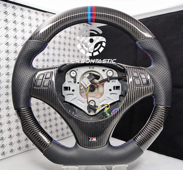 E82/88/90/92/93 Non-Paddle Shifted Carbon Fiber Steering Wheel Style 2
