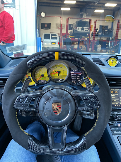 2015-2018 Porsche Custom Carbon Fiber Steering Wheel Style 3