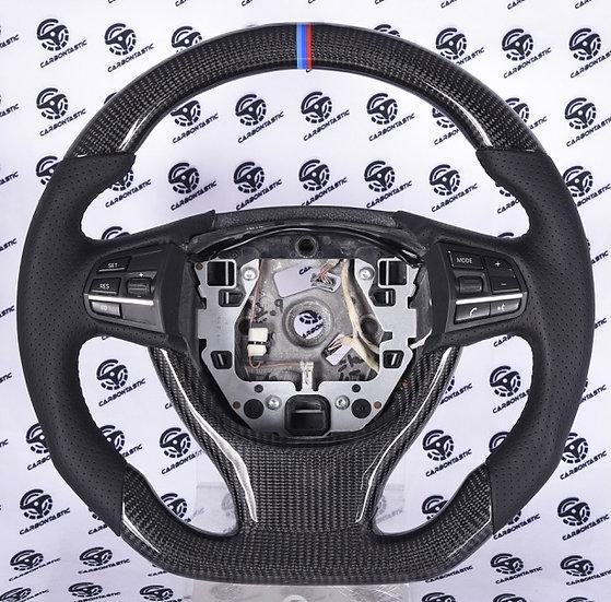 F Gen 5/6/7 series Sport Line Carbon Fiber Steering Wheel (NO PADDLE SHIFTERS)
