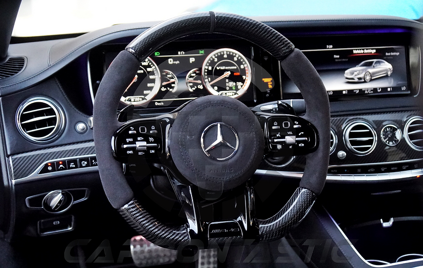 2019 AMG Steering Wheel Black Out Upgrades