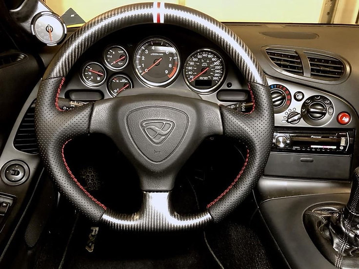 Mazda RX-7 FD3S custom carbon fiber steering wheel