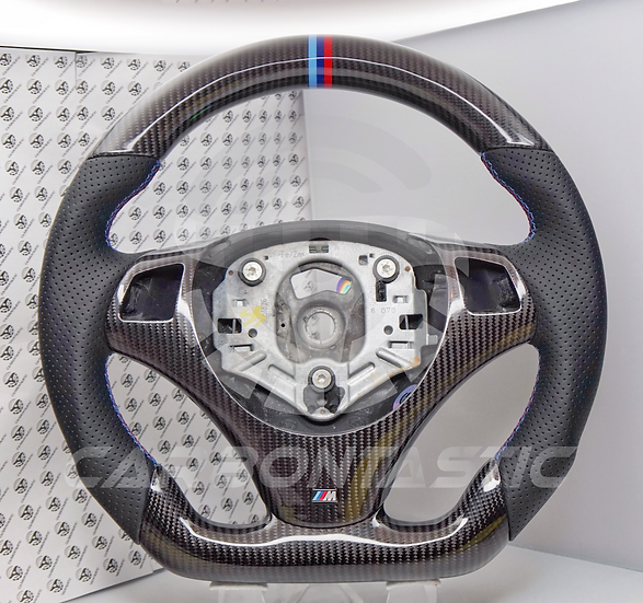 E82/88/90/92/93 Non-Paddle Shifted Carbon Fiber Steering Wheel Style 1