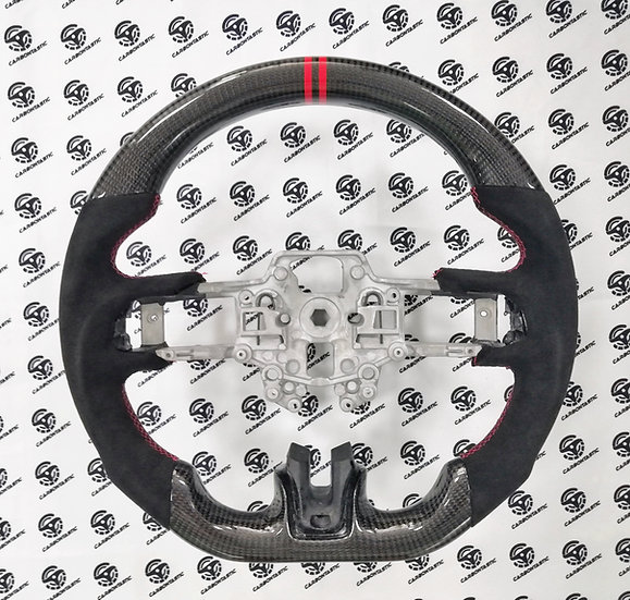 2018+Ford Mustang Custom Carbon Fiber Steering Wheel (Without Trim Cover)