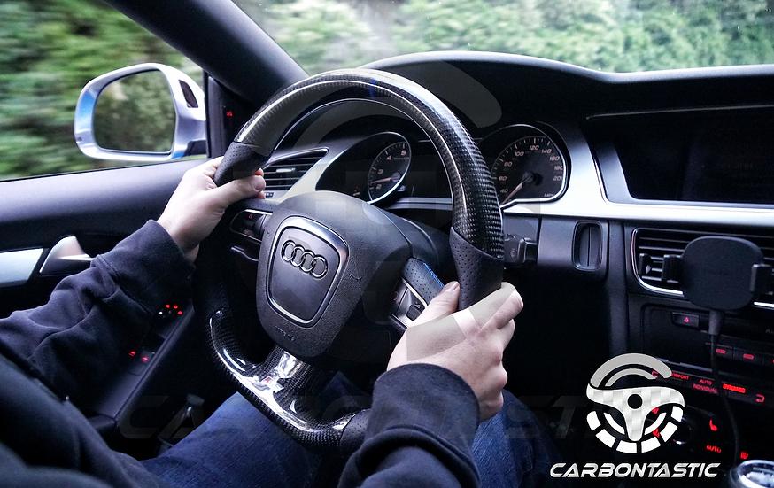 2007+ Audi A4/A5/A6/A7 S/RS Model Custom Carbon Fiber Steering(manual)