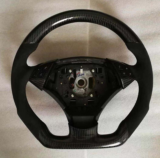 2006+ E60/63/64 Non-Paddle Shifted Non-Sport Carbon Fiber Steering Wheel Style 1
