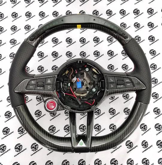 Stelvio/Giulia Custom Shift Light Carbon Fiber Steering (For Quadrifoglio)