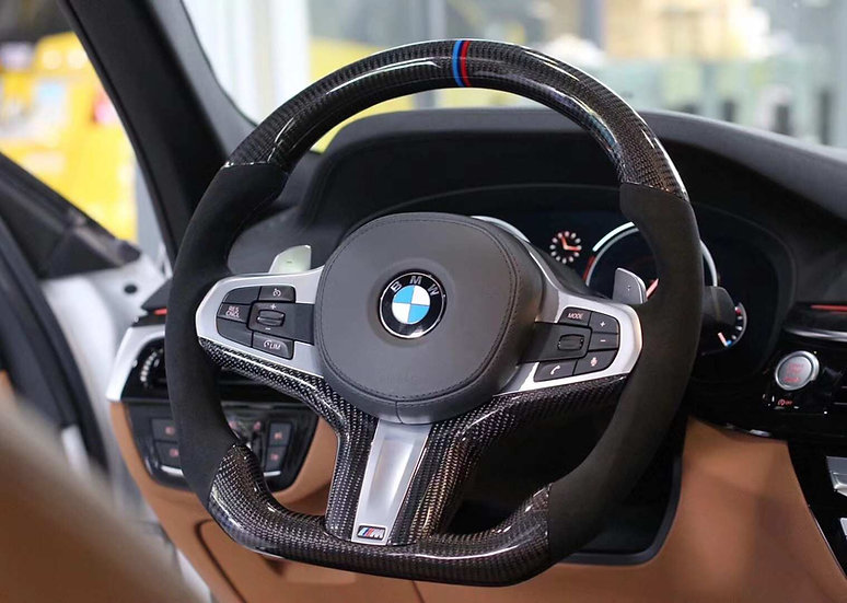 G30 5 series Custom Carbon Fiber Steering Wheel Sport (Paddle Shifted)