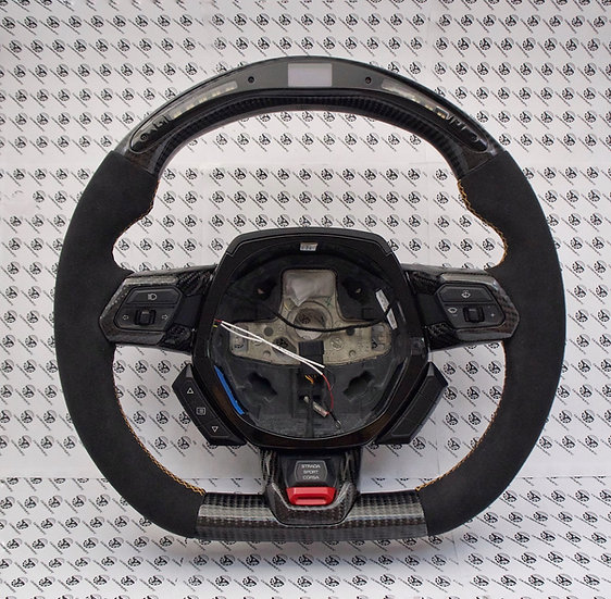 Lamborghini Huracan Custom Carbon Fiber Steering Wheel with LED shift light