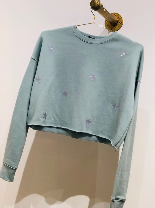 Bell Seafoam Glitter Stars Sweatshirt
