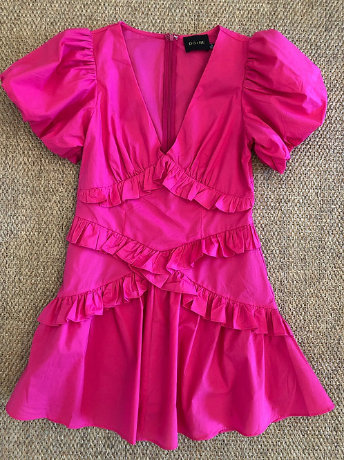 Hot Pink Tiered Dress