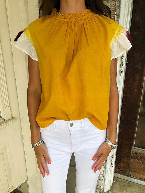 Mustard Tie Dye Top