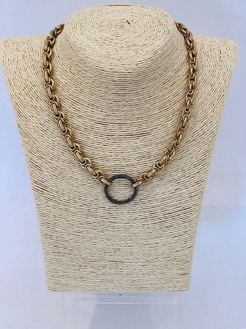 Bonita Necklace w/ Pave Diamond Clasp