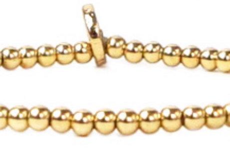 Mini Beaded Gold Bracelet