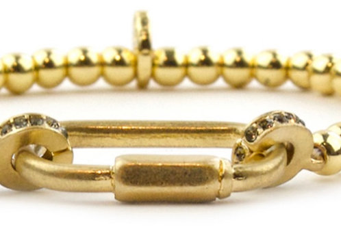 Mini Gold Lock Bracelet