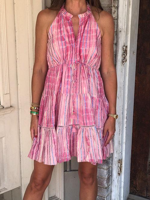 Rheta Pink Metallic Dress