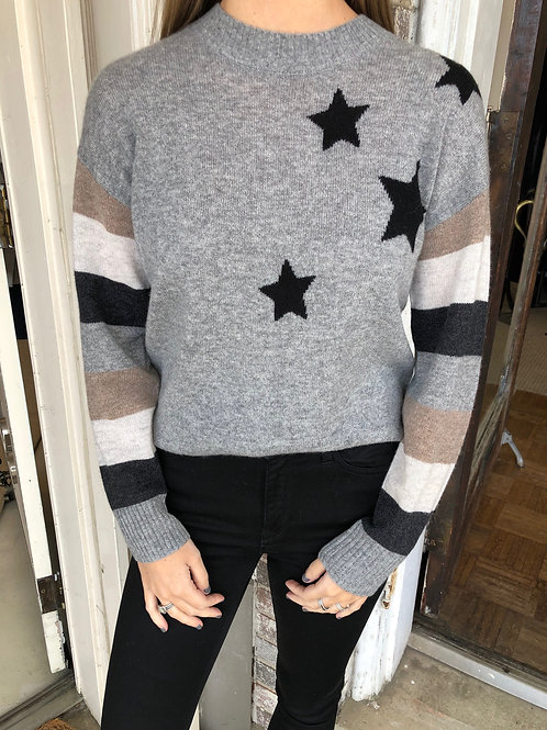 Stripe Star Cashmere Sweater