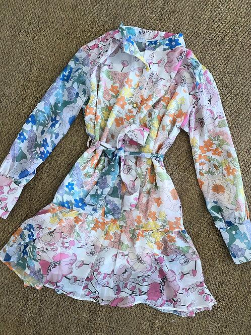 Floral Tie Dress
