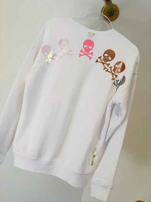 White Skull Sweatshirt