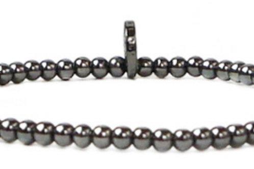 Mini Beaded Hematite Bracelet