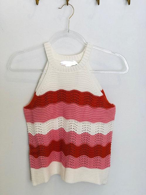 Hot Pink Red Crochet Top