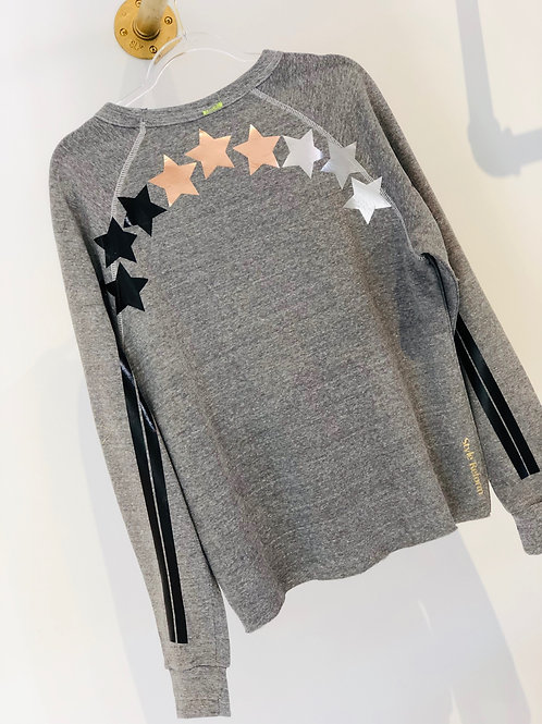 Grey Sweatshirt with Stars