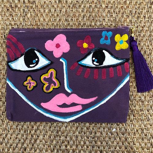 """""""Purple Pout"""" Mini Clutch/ Makeup Bag"""