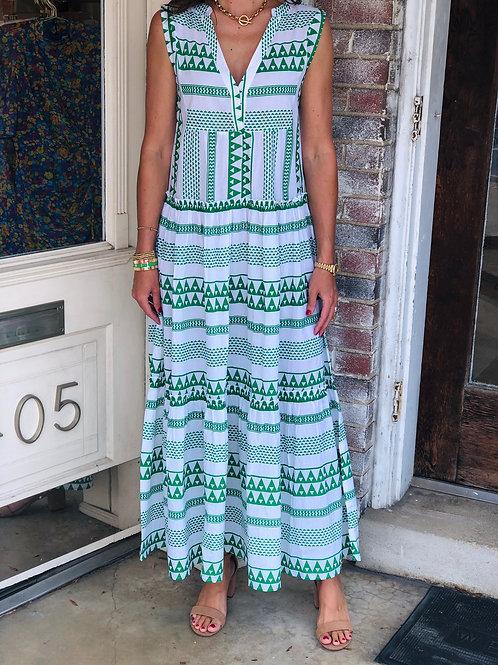 Salma Green Maxi Dress