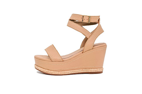 Canaria Natural Leather Wedge