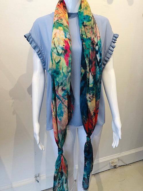 Tie Dye Butterfly Scarf
