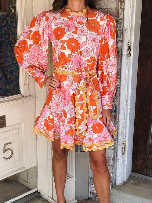 Orquidea Dress (Pink/Orange)