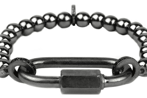 Hematite Lock Bracelet