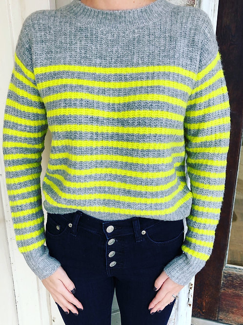 Lime Stripe Sweater