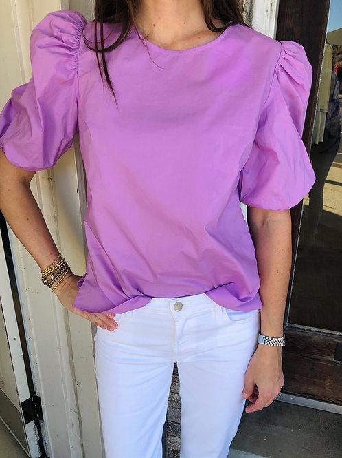 Lilac Poplin Top