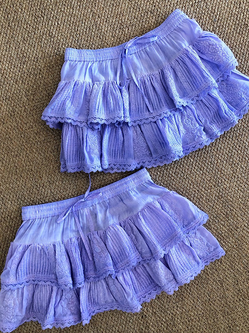 Coquette Mini Skirt (Lavender)