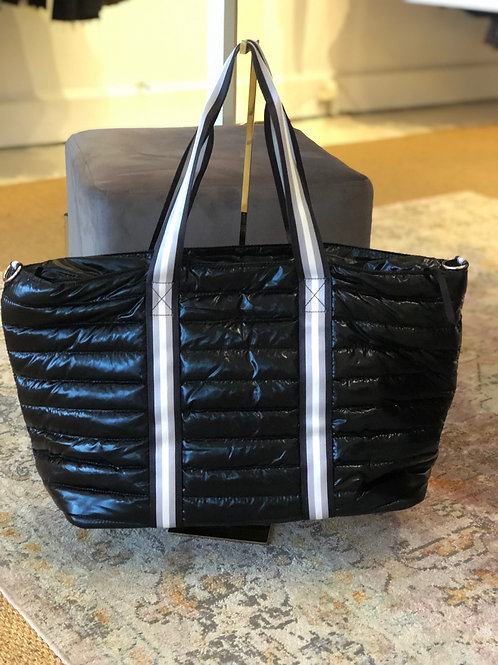Large Puffer Tote (Black)