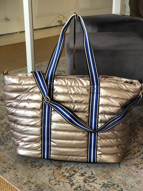 Large Puffer Tote (Rose Gold)