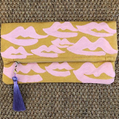 Pretty Pink Lips Clutch