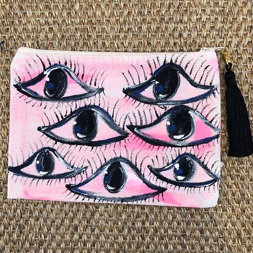"""I See You"" Mini Clutch/ Makeup Bag"