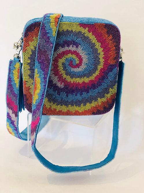 Tie Dye Beaded Box Bag