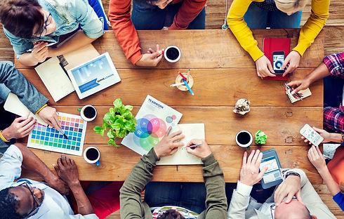 group-multiethnic-designers-brainstormin