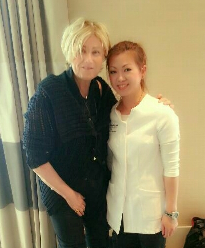 Deborra Lee Furness getting pampered