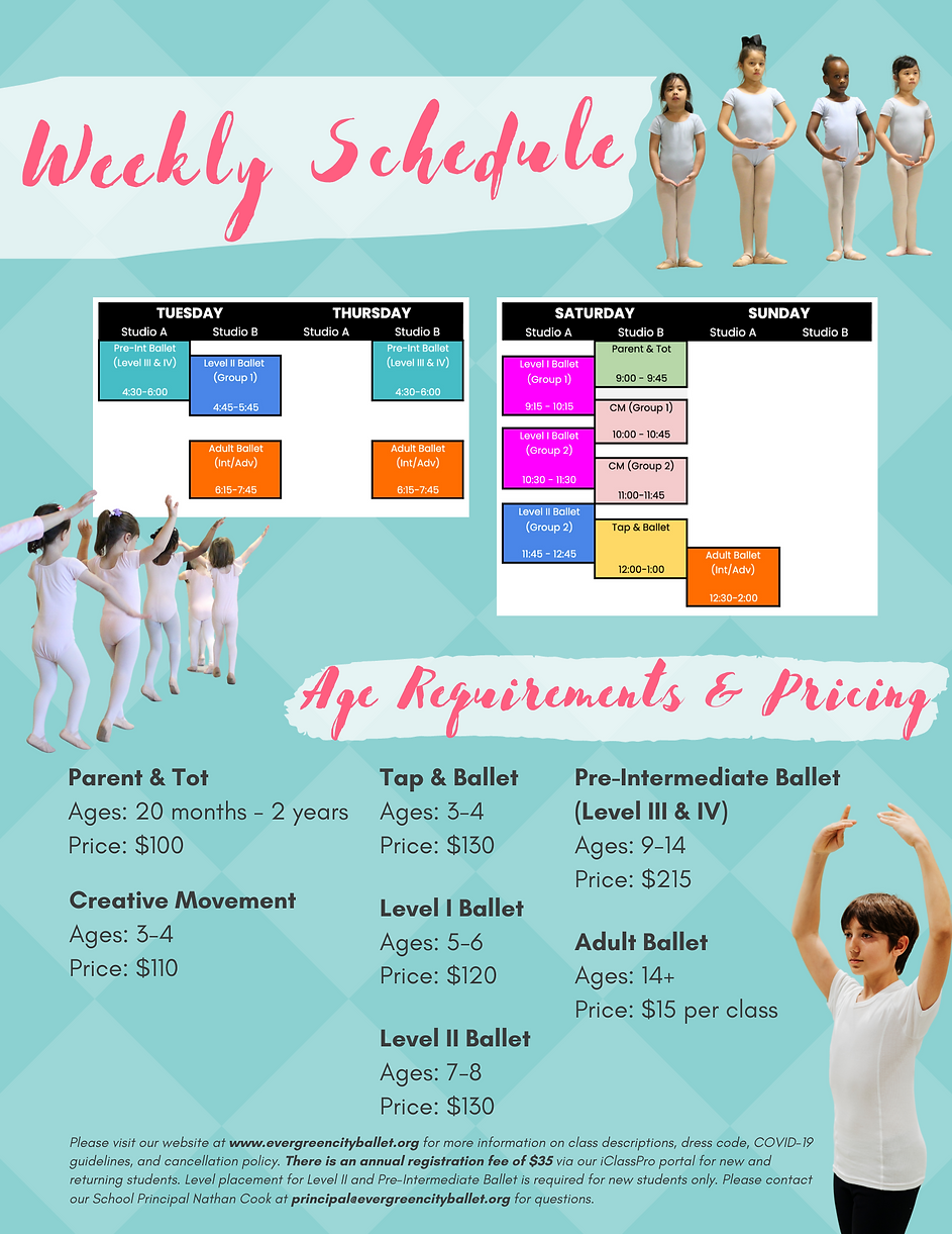 SUMMER CLASSES Weekly Schedule & Pricing.png