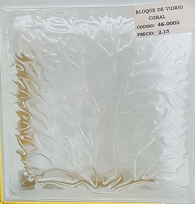 Bloque de Vidrio Coral