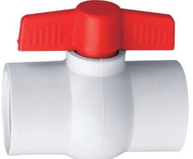 Llave de paso PVC c/r