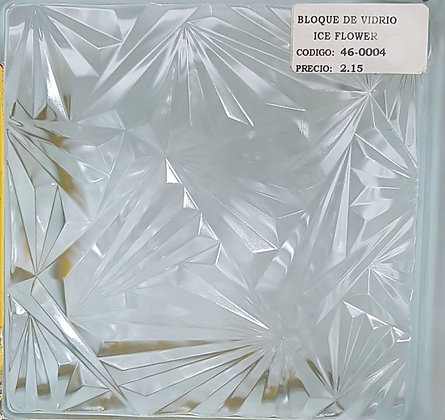 Bloque de Vidrio Ice Flower