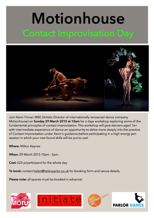 Contact Improvisation Workshop with Motionhouse AD Kevin Finnan